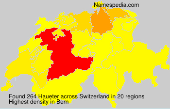 Surname Haueter in Switzerland