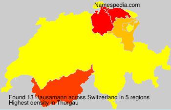 Surname Hausamann in Switzerland