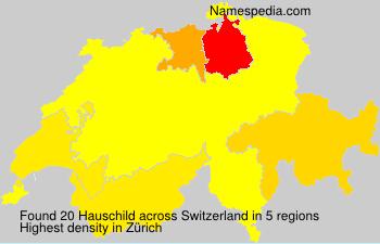 Surname Hauschild in Switzerland