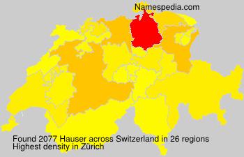Surname Hauser in Switzerland