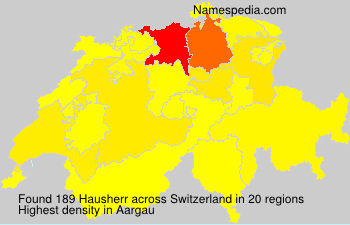 Surname Hausherr in Switzerland