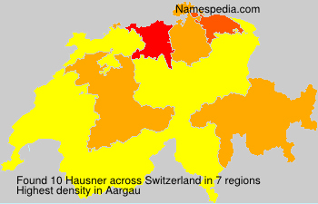 Surname Hausner in Switzerland