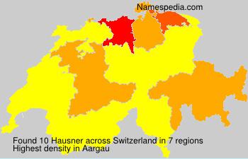 Surname Hausner in Switzerland