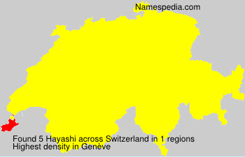Surname Hayashi in Switzerland