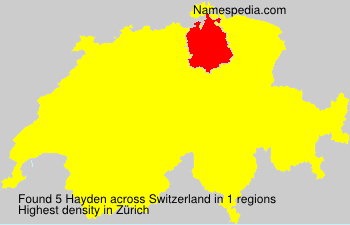 Surname Hayden in Switzerland