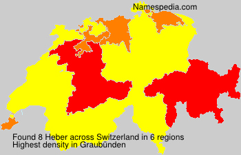 Surname Heber in Switzerland
