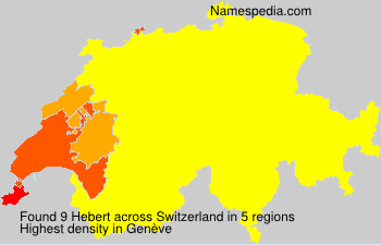 Surname Hebert in Switzerland