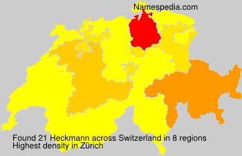 Surname Heckmann in Switzerland