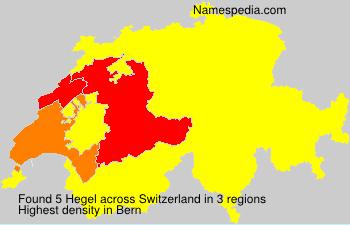 Surname Hegel in Switzerland