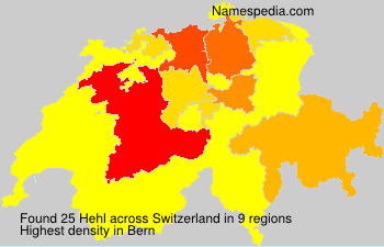 Surname Hehl in Switzerland