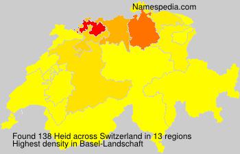 Surname Heid in Switzerland