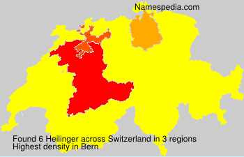 Surname Heilinger in Switzerland
