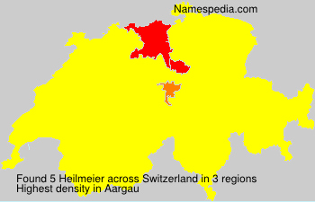 Surname Heilmeier in Switzerland