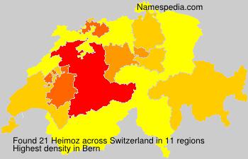 Surname Heimoz in Switzerland