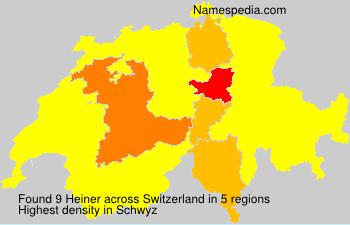 Surname Heiner in Switzerland