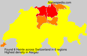 Surname Heinle in Switzerland