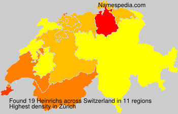 Surname Heinrichs in Switzerland