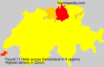 Surname Helle in Switzerland