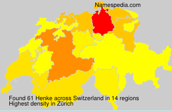 Surname Henke in Switzerland