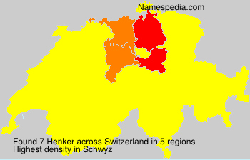 Surname Henker in Switzerland