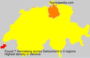 Surname Henneberg in Switzerland