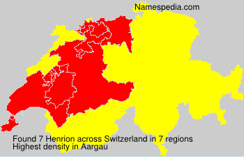 Familiennamen Henrion - Switzerland