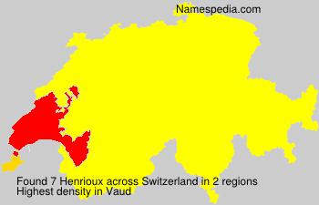 Surname Henrioux in Switzerland