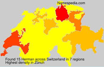 Surname Herman in Switzerland