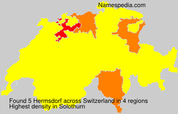 Surname Hermsdorf in Switzerland