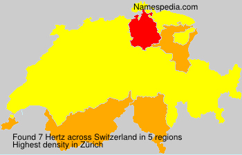 Surname Hertz in Switzerland