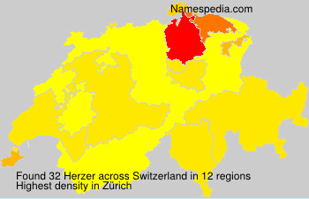 Surname Herzer in Switzerland