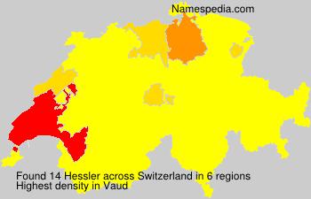 Surname Hessler in Switzerland