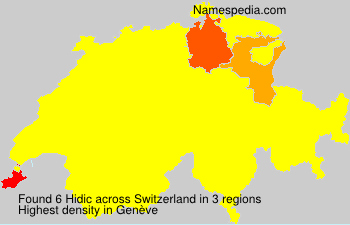 Surname Hidic in Switzerland