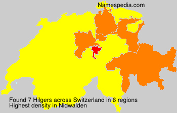 Surname Hilgers in Switzerland