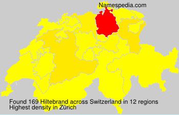Surname Hiltebrand in Switzerland