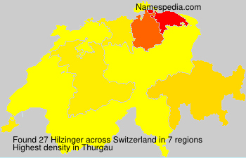 Surname Hilzinger in Switzerland