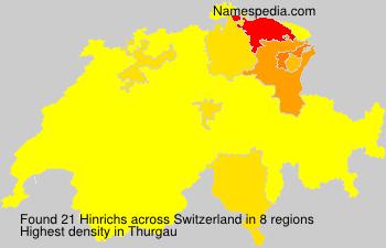 Surname Hinrichs in Switzerland