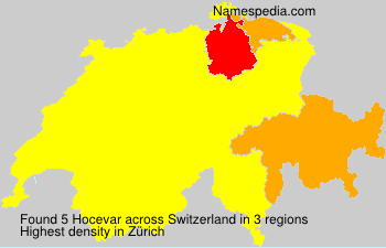 Surname Hocevar in Switzerland