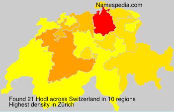 Surname Hodl in Switzerland