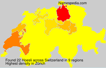 Surname Hoesli in Switzerland