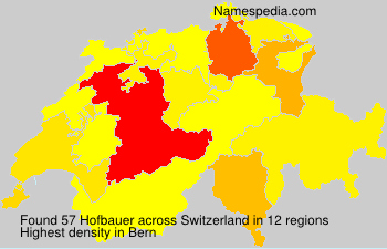 Surname Hofbauer in Switzerland