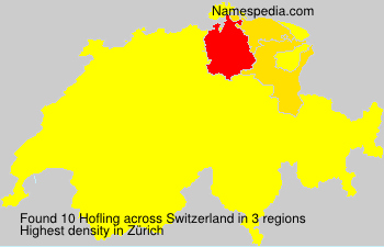 Surname Hofling in Switzerland