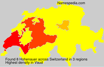 Surname Hohenauer in Switzerland