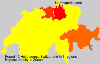 Surname Holle in Switzerland