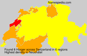 Surname Horger in Switzerland