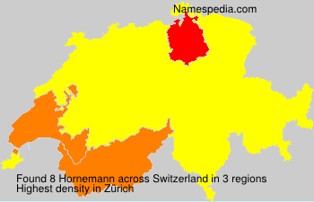 Surname Hornemann in Switzerland