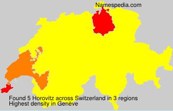 Familiennamen Horovitz - Switzerland