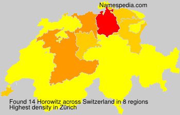 Surname Horowitz in Switzerland