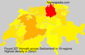 Surname Horvath in Switzerland