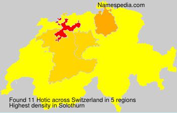 Surname Hotic in Switzerland